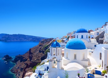 Beautiful Village of Oia in Santorini, Greece