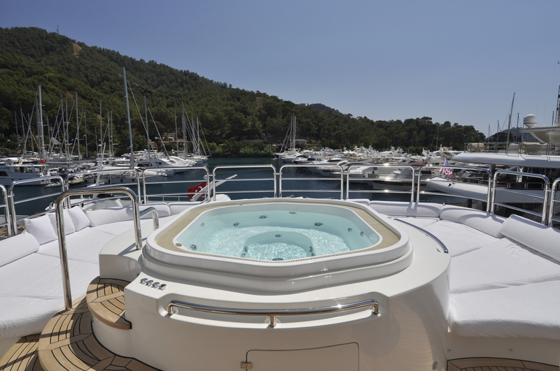 A hot tub on a superyacht? Yes, it's possible and time to get on board!